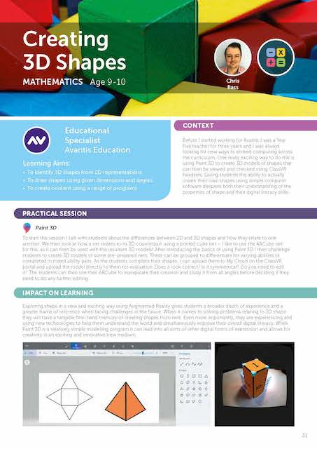 creating 3d shapes virtual reality lesson