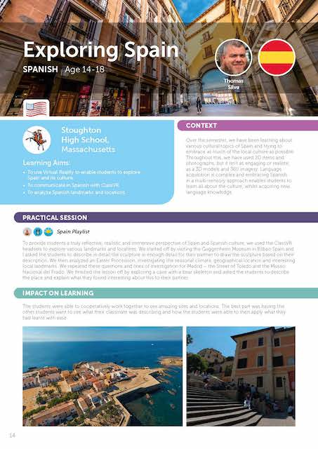 exploring Spain for virtual reality lesson