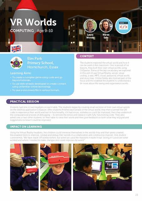 virtual reality worlds for virtual reality lesson